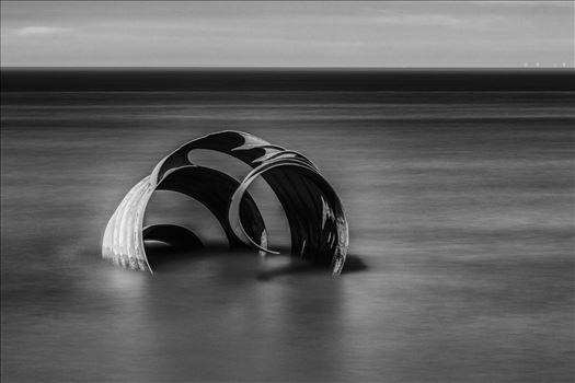 Marys Shell at Cleveleys - Mono Version by Tony Keogh Photography