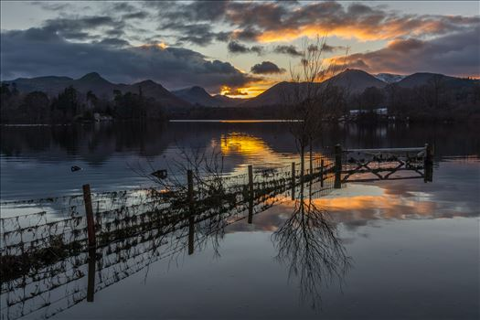 Derwent Water at Sunset by Tony Keogh Photography