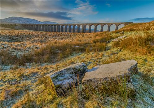 Winter Sunrise at Ribblehead Viaduct in the Yorkshire Dales. by Tony Keogh Photography