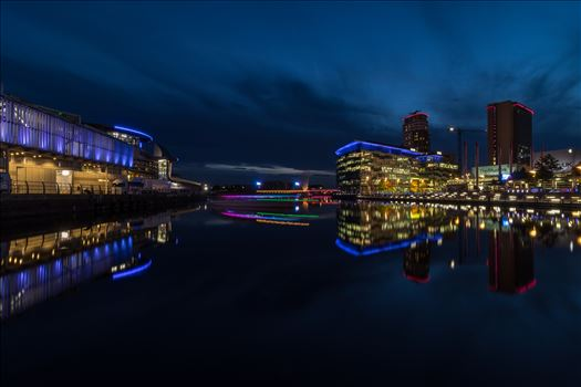 Media City at Night by Tony Keogh Photography