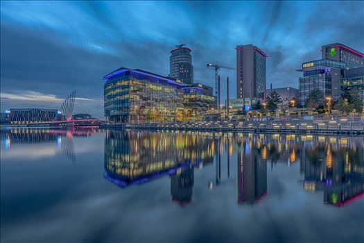 Blue Hour at Media City by Tony Keogh Photography
