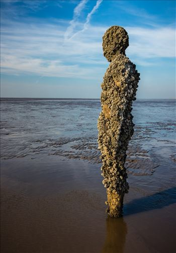 Anthony Gormley Statue on Crosby Beach by Tony Keogh Photography