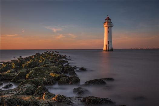 Perch Rock Lighthouse at Sunset by Tony Keogh Photography