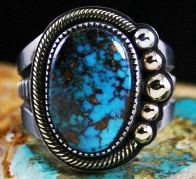 Silver Ring by Sammie Kescoli Begay: Turquoise Direct by Turquoisedirect