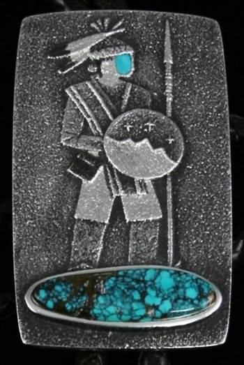 Warrior Bolo by Darryl Dean Begay: Turquoise Direct by Turquoisedirect