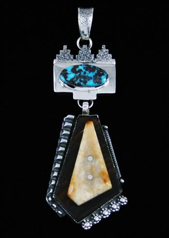 Jack Tom Multi Stone Pendant by Turquoisedirect