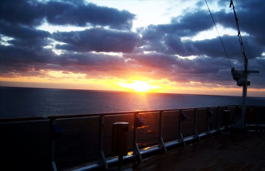Sunrise on Deck by CLStauber Photography