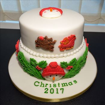 Christmas cake 2017 by Alison Wonderland Bakes