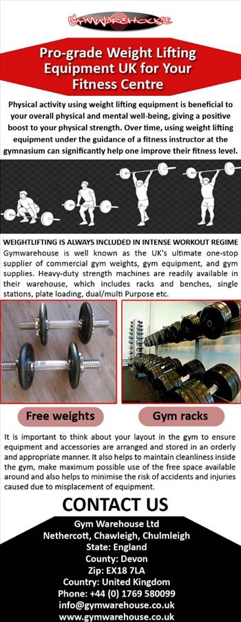 Pro-grade Weight Lifting Equipment UK for Your Fitness Centre.jpg by Gymwarehouse