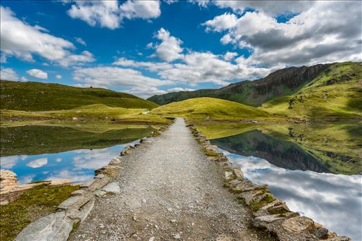 Llyn Llydaw Causeway by Adrian Evans Photography