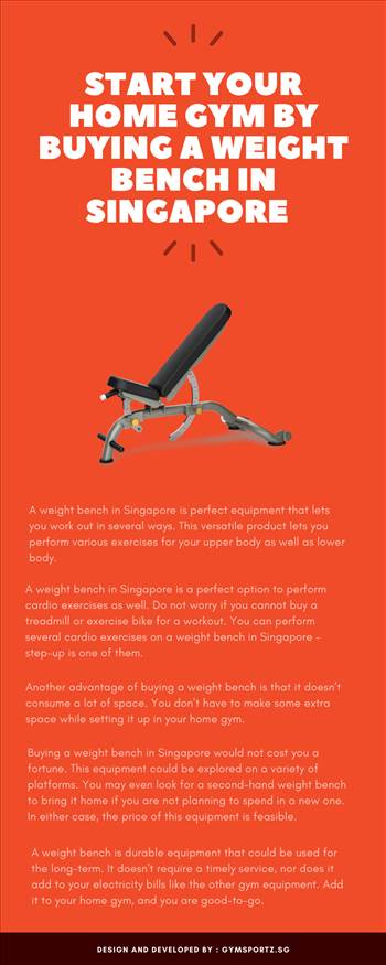 Start Your Home Gym By Buying A Weight Bench In Singapore by Gymsportz