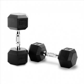 HEX RUBBER DUMBBELLS (IN PAIRS) by gymsportz
