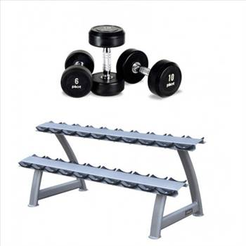 PROFESSIONAL DUMBBELL SET PACKAGE (WITH RACK) by gymsportz