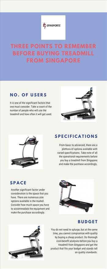 Three Points to Remember Before Buying Treadmill from Singapore by Gymsportz