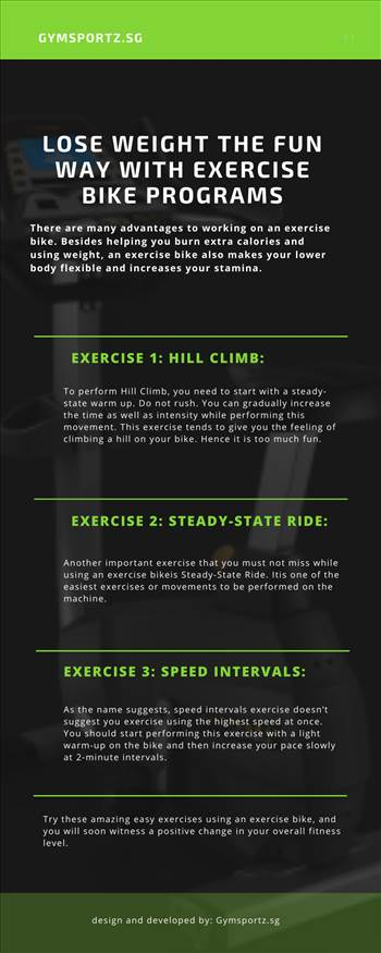 Lose Weight The Fun Way With Exercise Bike Programs by Gymsportz