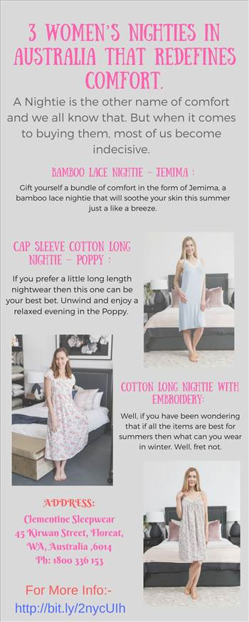 3 women's nighties in Australia that redefines comfort by Clementine