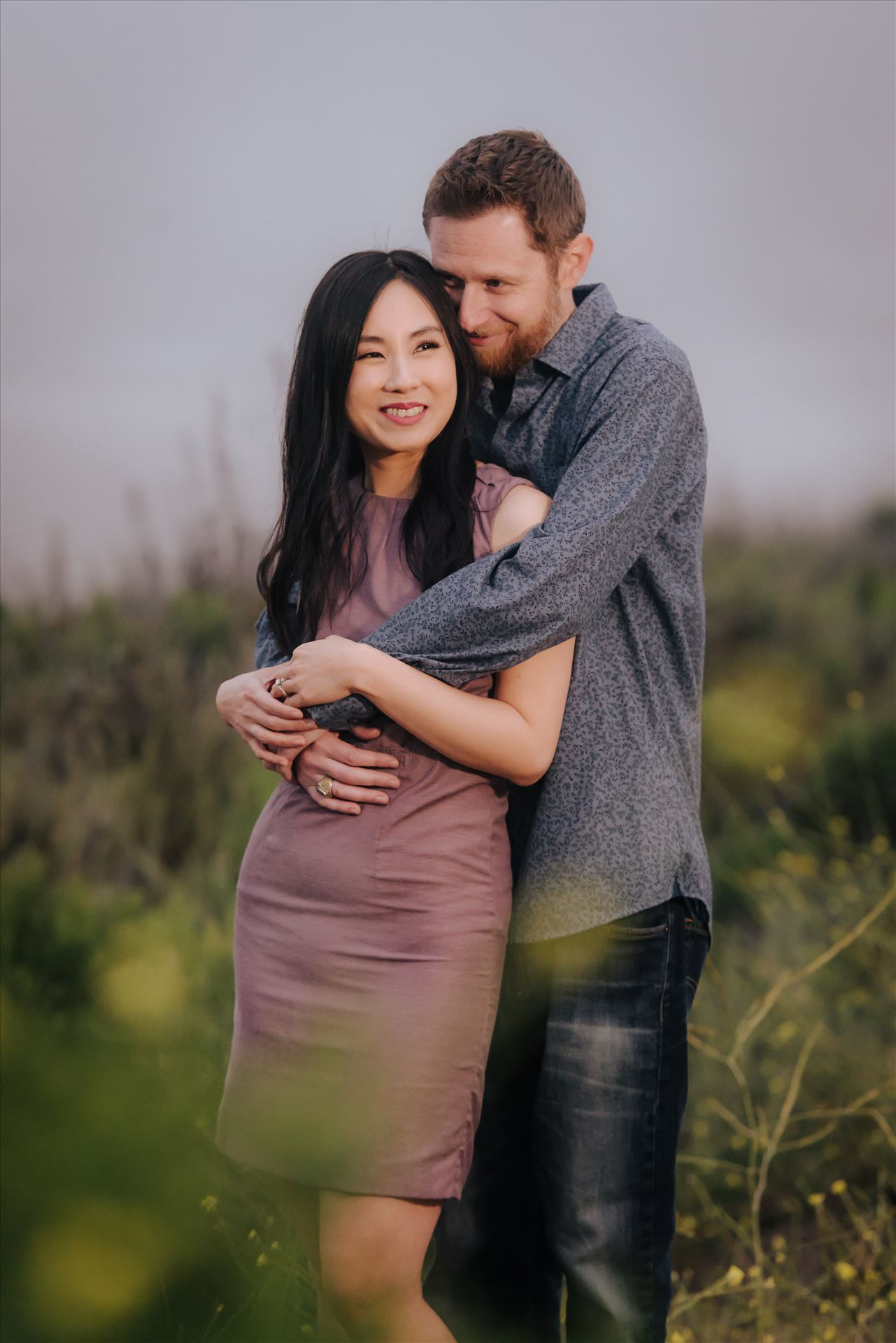 Carmen and Josh 60 Montana de Oro Spooners Cove Engagement Photography Los Osos California.  Hidden Romance and Love of a couple by Sarah Williams