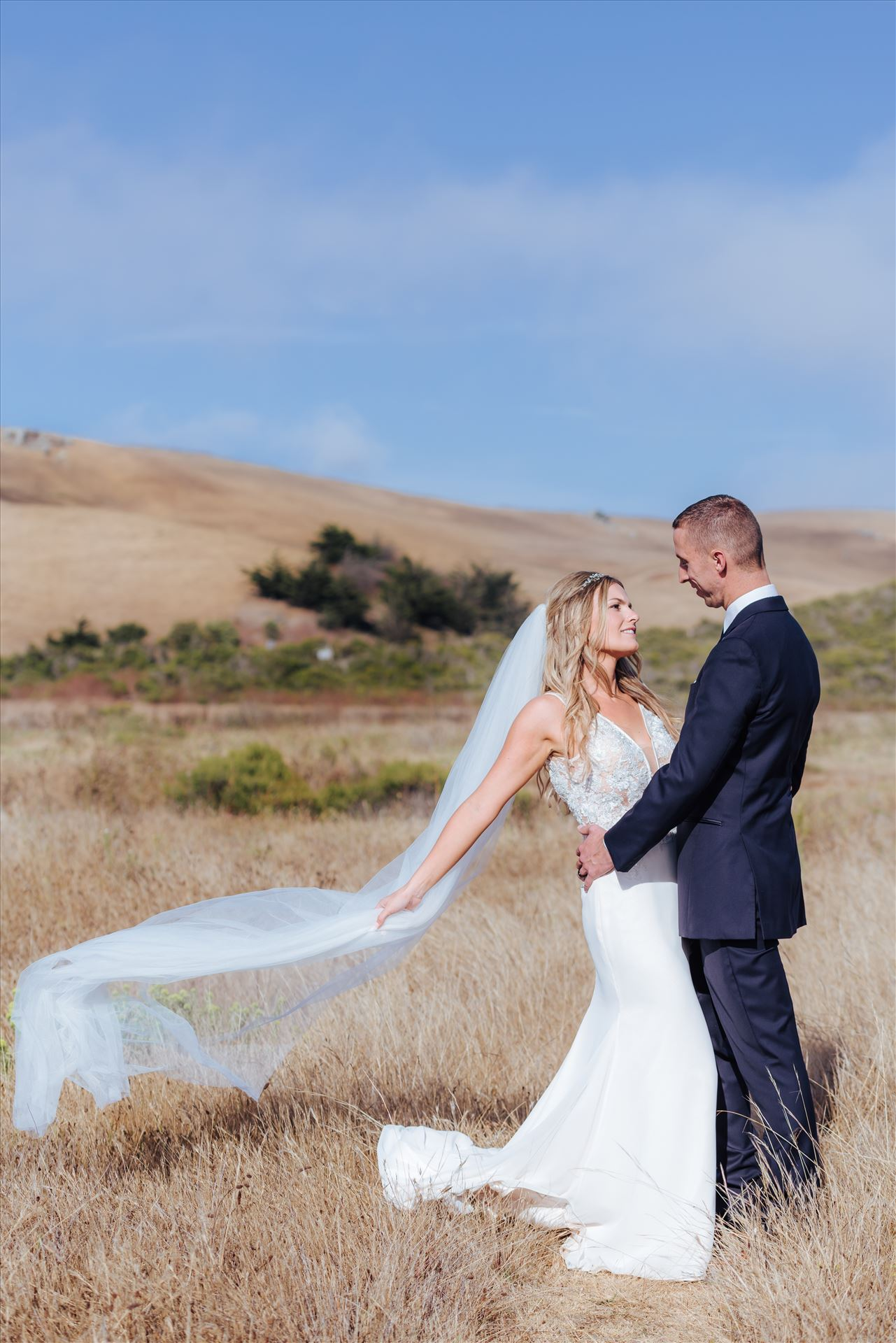 Courtney and Doug 50 Mirror's Edge Photography, San Luis Obispo Wedding Photographer captures Cayucos Wedding on the beach and bluffs in Cayucos Central California Coast. Northern and Central California San Luis Obispo County Bride and Groom by Sarah Williams