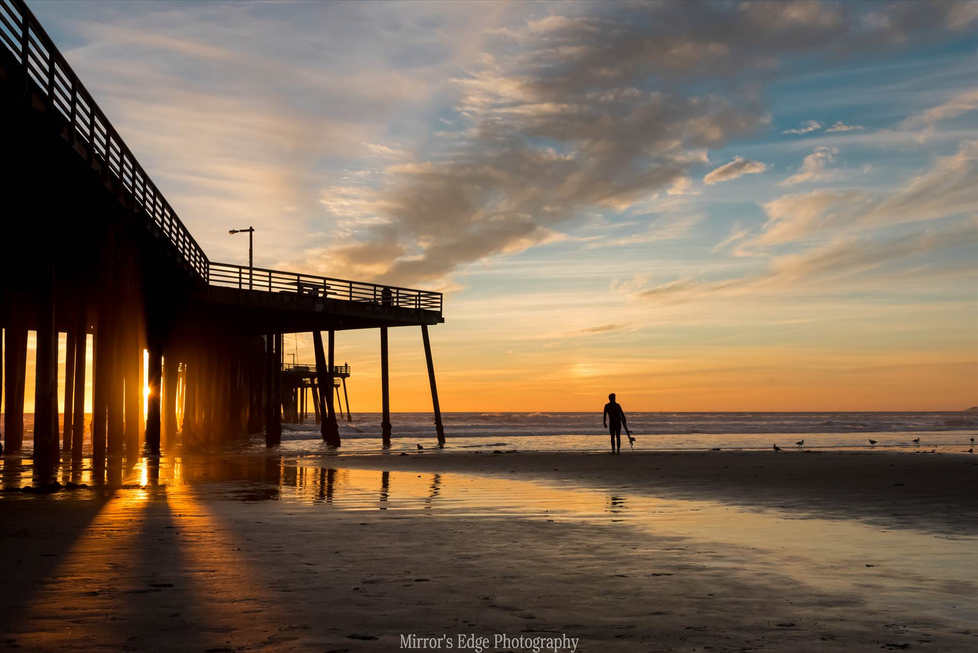 Sunset and the Surfer.jpg undefined by Sarah Williams