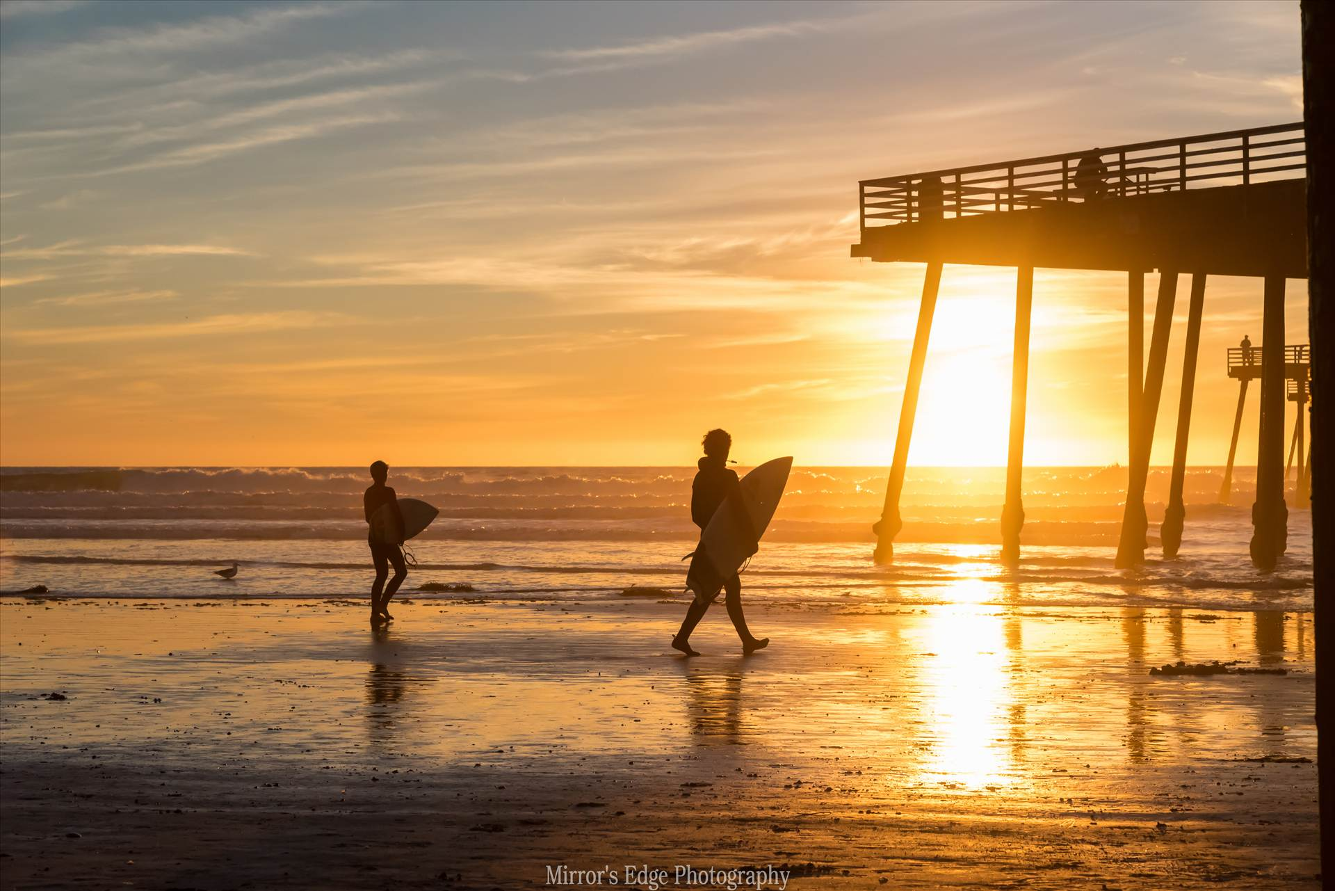 Surfers at Sunset3.jpg undefined by Sarah Williams