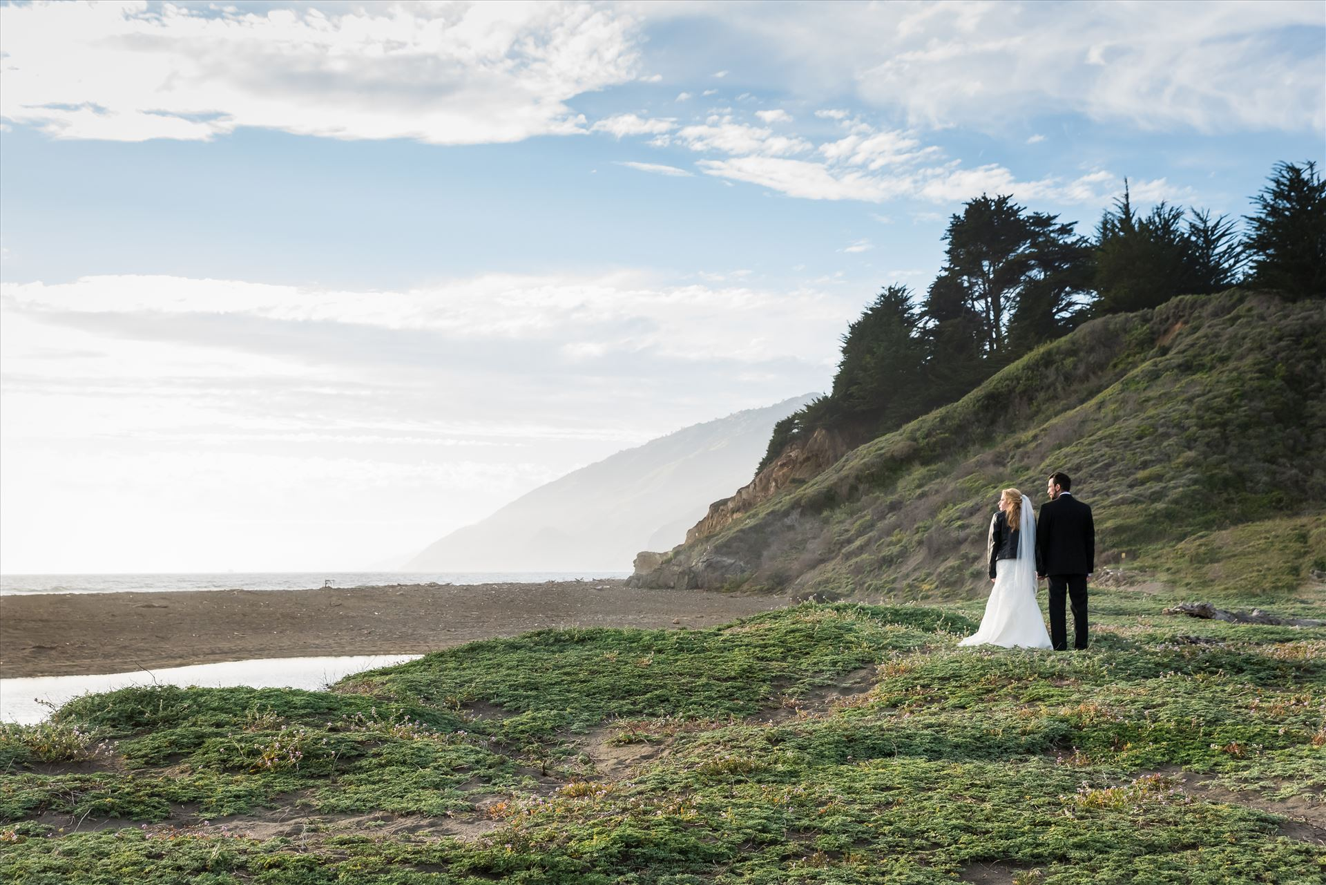 Adele and Jason 31 Ragged Point Inn Wedding Elopement photography by Mirror's Edge Photography in San Simeon Cambria California. Bride and Groom at Ragged Point beach. Big Sur Wedding Photography by Sarah Williams