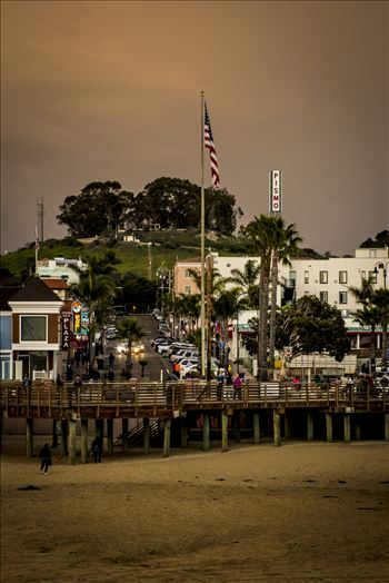 Stormy Downtown Pismo.jpg - Stormy day in downtown Pismo Beach, California.