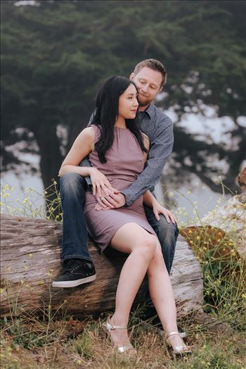 Carmen and Josh 47 - Montana de Oro Spooners Cove Engagement Photography Los Osos California.  Classic Chic Bride and Groom in Love