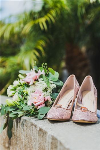 Candy and Christopher 08 - Wedding at Dolphin Bay Resort and Spa in Shell Beach, California by Sarah Williams of Mirror\u0027s Edge Photography, a San Luis Obispo County Wedding Photographer. Shoes, flowers and rings
