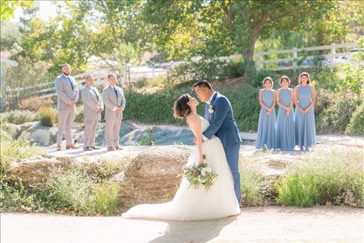 Maryanne and Michael at Madonna Inn 087 - Mirror\u0027s Edge Photography captures Maryanne and Michael\u0027s magical wedding in the Secret Garden at the iconic Madonna Inn in San Luis Obispo, California. The Bridal Party in the Secret Garden