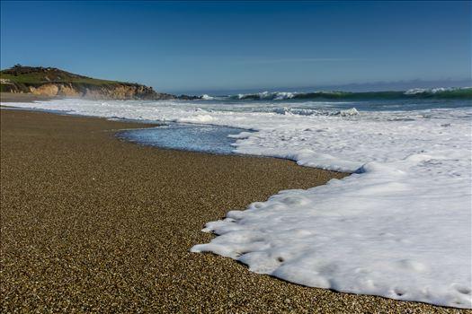 Waverly Beach Cambria.jpg - Cambria California Moonstone Beach where sand and surf meet