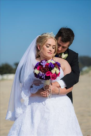 Jessica and Michael 59 - Sea Venture Resort and Spa Wedding Photography by Mirror\u0027s Edge Photography in Pismo Beach, California. Bride and Groom portrait