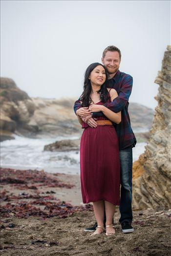 Carmen and Josh 01 - Montana de Oro Spooners Cove Engagement Photography Los Osos California.  Romance by the sea