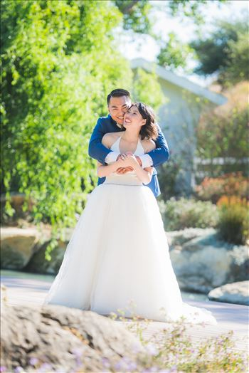 Maryanne and Michael at Madonna Inn 104 - Mirror\u0027s Edge Photography captures Maryanne and Michael\u0027s magical wedding in the Secret Garden at the iconic Madonna Inn in San Luis Obispo, California. Happy couple in the garden