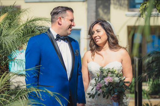Candy and Christopher 23 - Wedding at Dolphin Bay Resort and Spa in Shell Beach, California by Sarah Williams of Mirror\u0027s Edge Photography, a San Luis Obispo County Wedding Photographer. Bride and Groom Tropical Wedding at Dolphin Bay