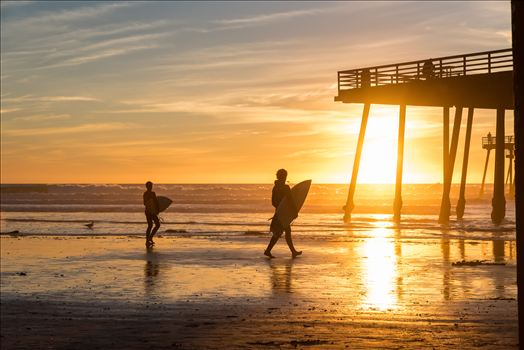 Surfers at Sunset3.jpg by Sarah Williams