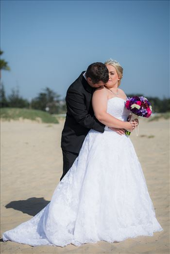 Jessica and Michael 62 - Sea Venture Resort and Spa Wedding Photography by Mirror\u0027s Edge Photography in Pismo Beach, California. Princess Bride and Groom on Pismo Beach