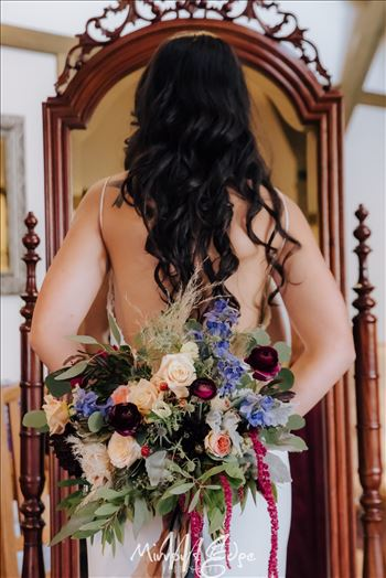 Arroyo Grande Wedding Bride With Flowers by Sarah Williams
