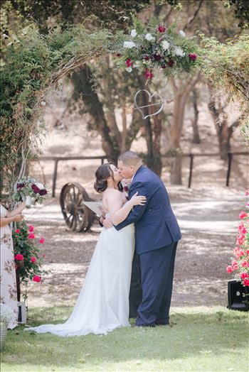 Madison and Stephen Wedding 050 - Mirror\u0027s Edge Photography captures Madison and Stephen\u0027s Wedding at Case de Alvarez in Arroyo Grande, California. The wedding kiss