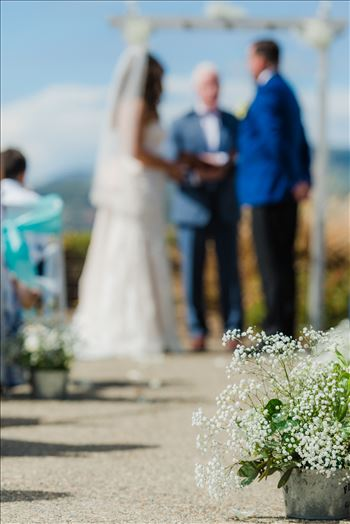 Candy and Christopher 17 - Wedding at Dolphin Bay Resort and Spa in Shell Beach, California by Sarah Williams of Mirror\u0027s Edge Photography, a San Luis Obispo County Wedding Photographer. Down the aisle at Spyglass