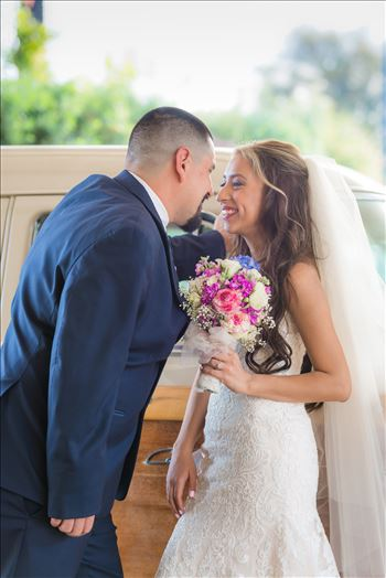 Kimpton Goodland Hotel Santa Barbara Goleta California Bride and Groom by Car by Sarah Williams