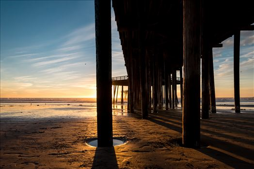Under Pismo Pier at Sunset.jpg by Sarah Williams