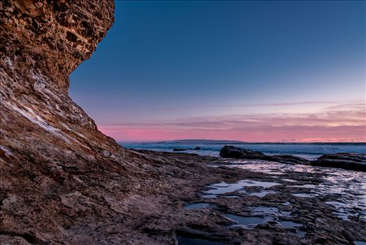 Shell Beach Cliff Pink Sunset.jpg by Sarah Williams