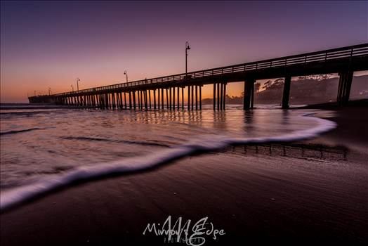 Cayucous Pier After Dark 02132016.jpg by Sarah Williams
