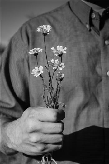 The Offering.jpg - Love expressed with a bouquet of spring flowers