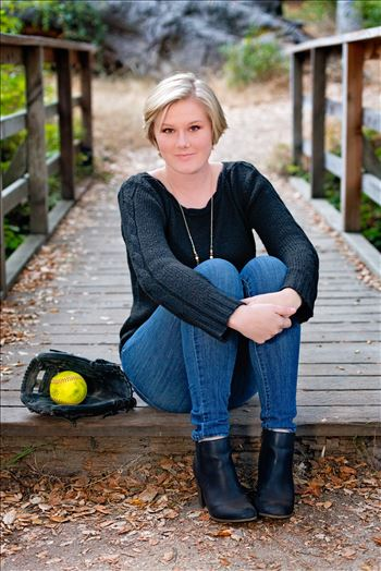 Ariel Ingram Senior Portraits 25 - Senior Portrait Session 2018 at Los Osos Oaks Reserve.  San Luis Obispo and Central Coast Senior Portrait photographer Mirror\u0027s Edge Photography. Senior with softball prop