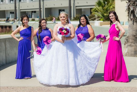 Jessica and Michael 24 - Sea Venture Resort and Spa Wedding Photography by Mirror\u0027s Edge Photography in Pismo Beach, California. Bride and her Bridesmaids