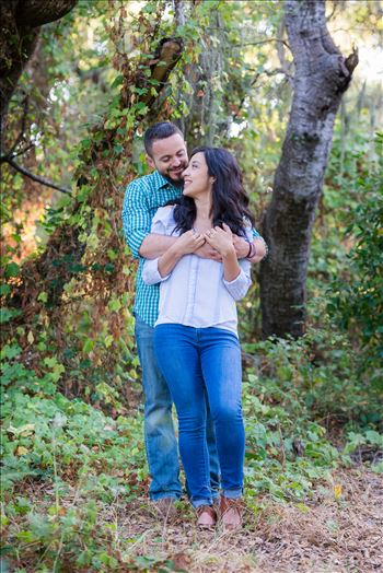 Cinthya and Carlos 52 - Los Osos State Park Reserve Engagement Photography and Wedding Photography by Mirror\u0027s Edge Photography.  Romantic hug couple
