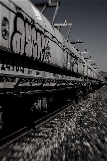 Graffiti Tankers Desaturated.jpg by Sarah Williams