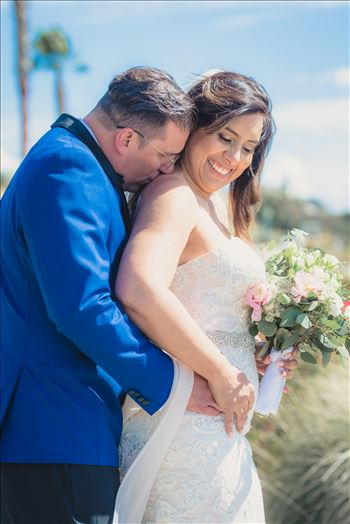 Candy and Christopher 27 - Wedding at Dolphin Bay Resort and Spa in Shell Beach, California by Sarah Williams of Mirror\u0027s Edge Photography, a San Luis Obispo County Wedding Photographer. Bride and Groom by the Ocean