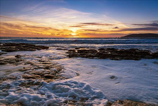 Shell Beach Cliffs Frothy Water.jpg -